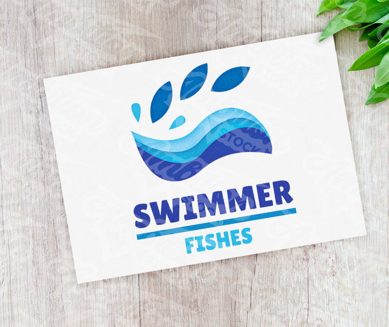 Swimmer Fishes Logo
