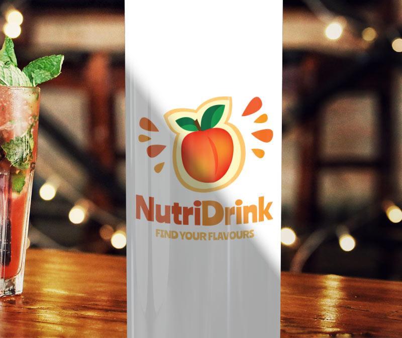 Nutri Drink Beverage Logo